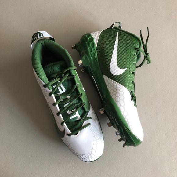 NWT Nike Force Zoom White Green Baseball Cleats